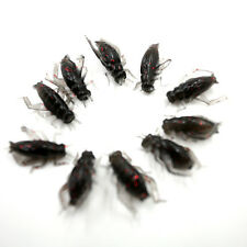 10pcs/Bag Cricket Fishing Lures Black Soft Insect Artificial Bait Hot