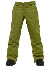 Burton Sweetart Cargo Pants Girls Snowboard Ski Waterproof Insulated Olive XL 18