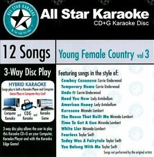 ASK-1562 Karaoke: Young Female Country 3 With Karaoke Edge, Featuring Hits in th