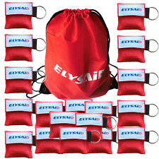 120 X One Way Valve CPR Mask Resuscitator Face Shields For First Aid Training