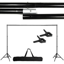 Photography Adjustable 10Ft Background Support Stand Photo Crossbar Studio Kit E