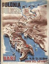 PUGLIA_BARI_LA POLONIA ALLA FIERA DEL LEVANTE_1948_RARO