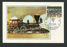 ITALIA MK 1975 EISENBAHN LOKOMOTIVE TRAIN LOK MAXIMUMKARTE MAXIMUM CARD MC d2990
