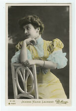 c 1906 French Theater Beauty JEANNE Marie LAURENT Reutlinger tint photo postcard