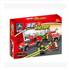 Building block fire series 8055 puzzle assembled toy fire truck