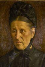 Jules RONCIN Portrait de Femme âgée Peinture à l'huile sur toile XIX°- XX°
