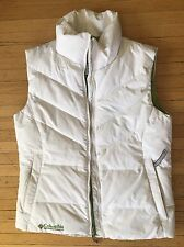 Women's Columbia Puffer Puffy Vest Size Small White And Green