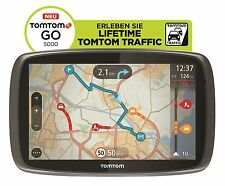 TomTom GO 5000 Europa XXL HD-Traffic + Free Lifetime 3D Maps IQ Tap&Go GPS * WOW