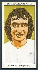 THE SUN 1979 SOCCERCARD #164-FRANCE-DOMINIQUE ROCHETEAU