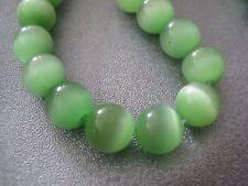 Spring Green Cat's Eye Round 8mm Beads 50pcs