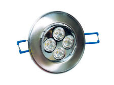 Omicron Silver Finish LED Downlight 2700k (Warm White) 5 Watt