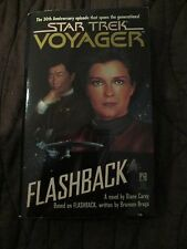 STAR TREK VOYAGER PAPERBACK BOOK   FLASHBACK