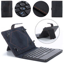 Luxury Universal 8-9 inch Bluetooth Keyboard Leather Stand Case For PC Tablet