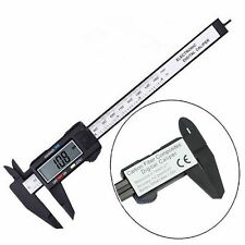 150mm 6inch LCD Digital Electronic Fiber Vernier Caliper Gauge Micrometer up