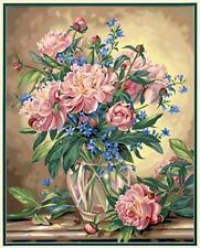 PEONY FLORAL  Paint by Number Kit   Dimensions Paintworks