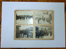 4 PHOTOS ORIGINALES du CONSEIL DE REVISION 1906 Etampes, Luzarches, Milly
