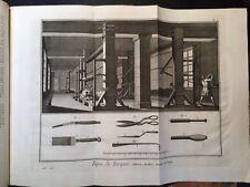 Enciclopedie Diderot 1752 - 1770: L'Art de faire le Tapis,Tappezziere, 53 Tavole