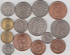 1966 AND 1967 ELIZABETH II SETS OF 14 COINS IN NEAR MINT CONDITION