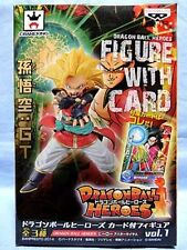 DRAGON BALL HEROES FIGURE WITH CARD SUPER SAIYAN BEAT - BANPRESTO (DRAGONBALL Z