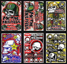 6 New Metal Mulisha Sticker Motocross Bike MTB ATV Racing Moto GP Decal Sheets