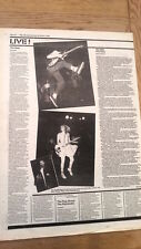 The SLITS The BEAT concert reviews 1980 UK ARTICLE / clipping