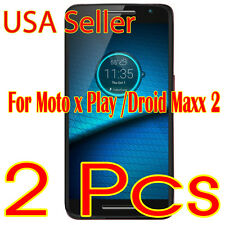 2Pcs  New Motorola Droid MAXX 2 / X Play HD Clear Screen Protector Cover X2