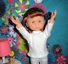 "Fits 13"" Les Cheries Corolle Doll ... White Long Sleeve Shirt .. D914"