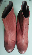 Next Women Size UK 6.5 Brown Leather Ankle Wedge Shoes