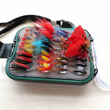 72 pcs vintage wet and dry fly lure with copper beads stream trout fishing