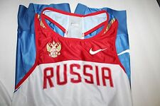 NIKE RUSSIA National Team Track Speedsuit Olympic Singlet, Size Large