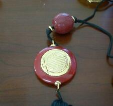 Vintage Estee Lauder Solid Perfume Necklace Treasure of the Orient Cinnabar 1978
