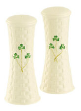 Belleek Shamrock Large Salt & Pepper Set