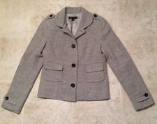 BANANA REPUBLIC - SMALL Light Gray Wool Blend Tweed Jacket Great Condition