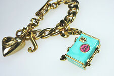 Juicy Couture Charm Link Bracelet with Suitcase Charm & Heart