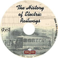History of Electric Railways and Railroads {Vintage Trolley Books} on DVD