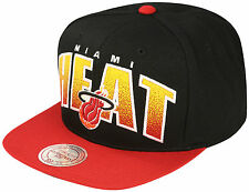 Mitchell & Ness Miami Heat Double Bonus Snapback Cap - Black/Red (BNWT)