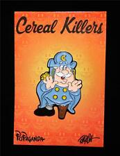 POPAGANDA: CEREAL KILLERS SERIES CAP'N CORNSTARCH LAPEL PIN BY RON ENGLISH
