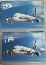 Singapore Airlines First To Fly A380 Playing Cards