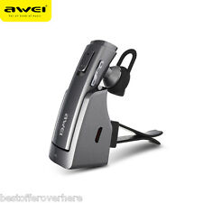 AWEI A833BL Bluetooth V4.1 Wireless HiFi Stereo Business Earphones with Mic