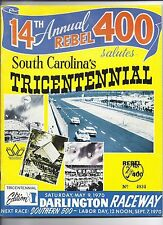 1970 Rebel 400 Program Nascar race Darlington Raceway