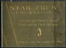 Complete Star Trek Movies Gold Plaque Chase Card G7