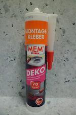 MEM adhesivo de montaje DECO 380 g para Molding y Culos de Espuma de la PU