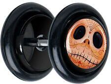 Pair Jack Day Of The Dead FAKE GAUGES EARRINGS Jack And Sally 5142