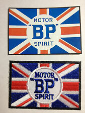 VINTAGE CLASSIC BP MOTOR SPIRIT PATCH & STICKER SET