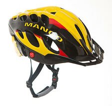 Mango BICYCLE HELMET in Red, Yellow and Black (ADULTS MEDIUM 52-58cm) New