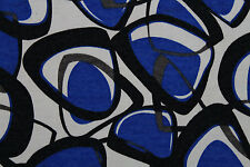 Crazy Ovals Angora Knit Dress Fabric Material (Royal Blue/Grey/Black/Cream)