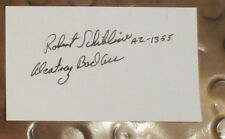 Robert Schibline  Alcatraz Former Inmate signed autographed index the Rock