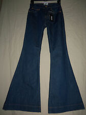 "VERSACE Versus Italy 28 NWT Denim High Waist 27"" Bell Bottom Hippie Jeans 28X34"