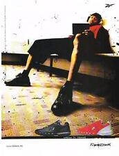 PUBLICITE ADVERTISING  2002  REEBOK  Chaussures de sport  IVERSON