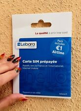 France sim card for Internet/voice incl. 1€ (also in micro nano) Lebara french